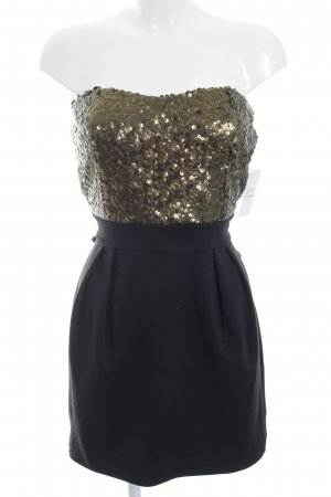 Minikleid schwarz-bronzefarben Party-Look