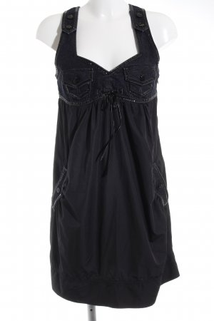 Minikleid schwarz-dunkelblau Casual-Look