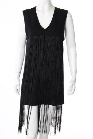 Minikleid schwarz mit Fransen