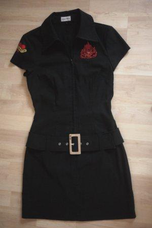 Minikleid schwarz mit Gürtel, Gr. 36, Kitty, Rockabilly, Punk, Kleid