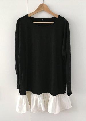 Minikleid schwarz mit Rüschen - Blogger, Shein