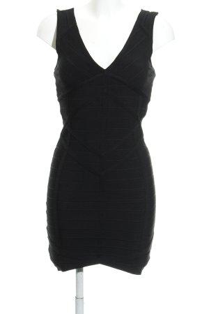 Minikleid schwarz Streifenmuster Elegant