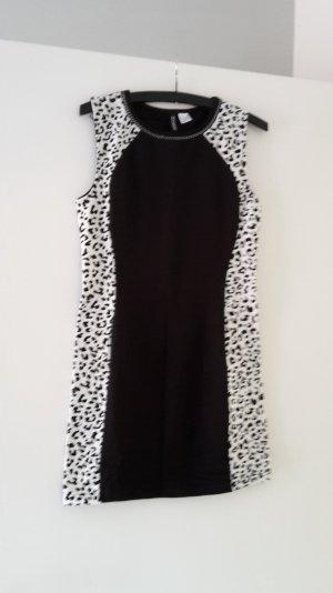 Minikleid schwarz weiß
