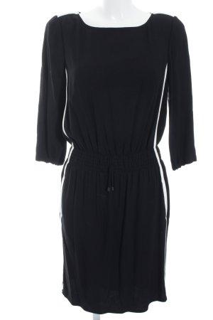 Minikleid schwarz-weiß Streifenmuster Elegant