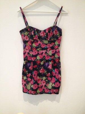 Minikleid Trägerkleid Sommerkleid Blumen TRF ZARA Corsage