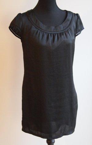 Minikleid / Tunika schwarz kurzarm