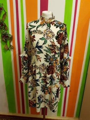 Minikleid Vila Gr. S (36/38) Oversize Neu Rüschen Volants Kleid Dress Blumenprint Lockeres Kleid