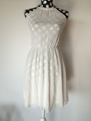 Minikleid weiß mit Perlenbesticktem Ethno-Neckholder