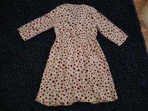 Minikleid Wickeloptik Wickelkleid 3/4 Arm Vero Moda weiß rot NEU Kleid