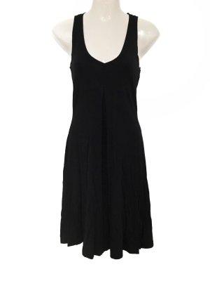 Minimal Clean Chic Basic Kleid Marccain Mini Dress Ausschnitt schwarz