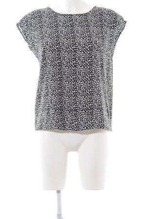 Minimum ärmellose Bluse schwarz-weiß Allover-Druck Casual-Look