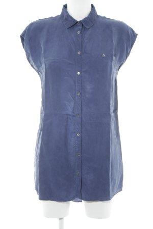 Minimum ärmellose Bluse stahlblau Casual-Look