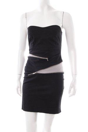 Minimum Bandeaukleid schwarz-grau extravaganter Stil