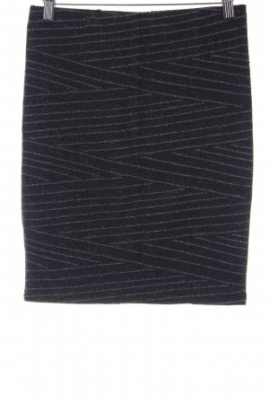 Minimum Bleistiftrock schwarz-silberfarben Elegant