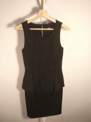 Minimum Peplum jurk zwart Polyester
