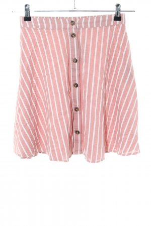 Minimum Flared Skirt white-pink striped pattern casual look
