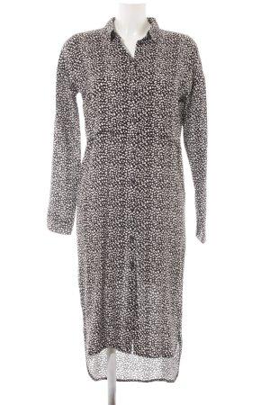 Minimum Hemdblusenkleid schwarz-weiß Punktemuster Casual-Look