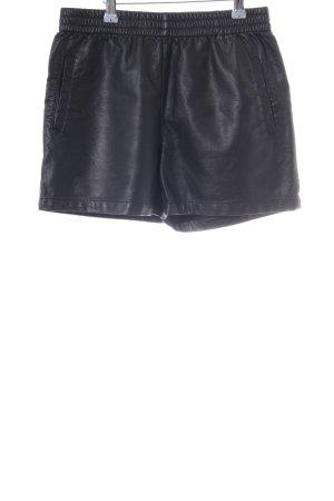 Minimum Pantalón corto de talle alto negro Estilo ciclista