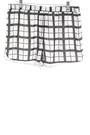 Minimum Hot Pants weiß-schwarz Karomuster Elegant