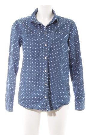 Minimum Denim Shirt white-steel blue spot pattern jeans look