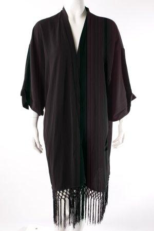 Minimum Kimono schwarz mit Fransen
