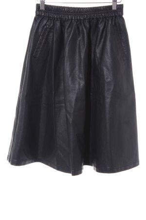 Minimum Falda de cuero de imitación negro look casual