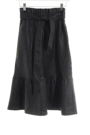 Minimum Falda de cuero de imitación negro elegante