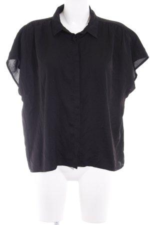 Minimum Kurzarm-Bluse schwarz Casual-Look