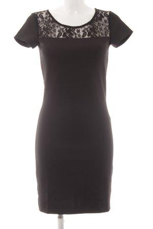 Minimum Kurzarmkleid schwarz Elegant
