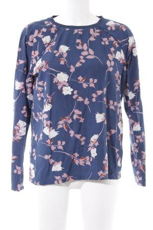 Minimum Langarm-Bluse Blumenmuster Casual-Look