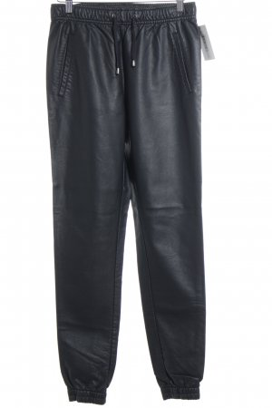 Minimum Lederhose schwarz Casual-Look