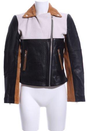 Minimum Lederjacke mehrfarbig Casual-Look