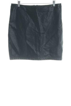 Minimum Leren rok zwart casual uitstraling