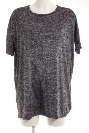 Minimum Longshirt schwarz-silberfarben Farbverlauf Casual-Look