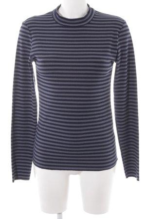 Minimum Longsleeve graublau-dunkelblau Streifenmuster Casual-Look