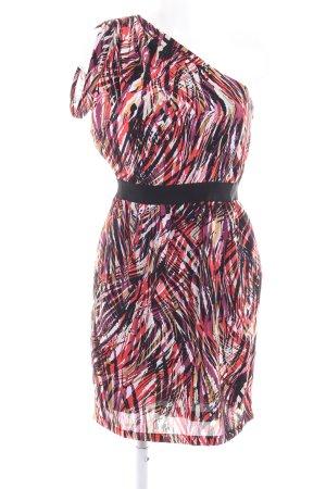 Minimum One-Shoulder-Kleid abstraktes Muster Casual-Look