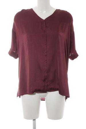 Minimum Oversized Bluse bordeauxrot Casual-Look