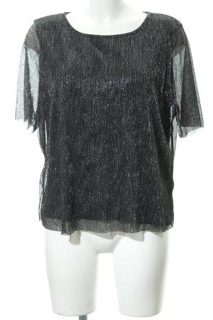 Minimum Oversized Shirt schwarz-silberfarben meliert Elegant