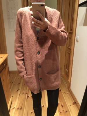 Minimum Oversized Strickjacke rosa