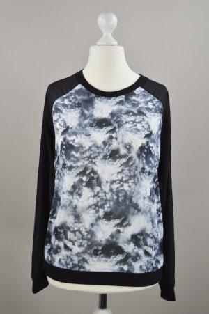 Minimum Pullover in schwarz mit Muster Größe 36
