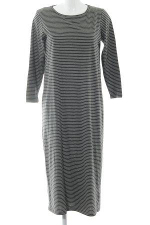 Minimum Sweaterjurk grijs-wit gestreept patroon casual uitstraling