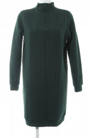 Minimum Sweater Dress forest green cable stitch business style