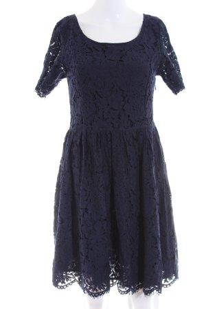 Minimum Spitzenkleid blau Blumenmuster Business-Look