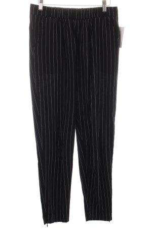 Minimum Stoffhose schwarz-weiß Streifenmuster Casual-Look