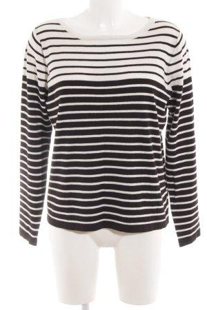Minimum Strickpullover schwarz-weiß Streifenmuster Casual-Look