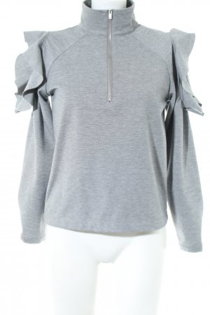 Minimum Sweatshirt hellgrau meliert Casual-Look