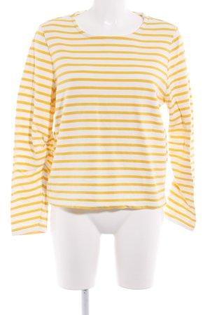 Minimum Sweatshirt wollweiß-dunkelgelb Streifenmuster Casual-Look