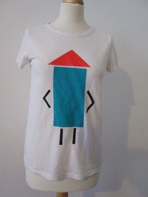Minimum T-Shirt Gr. xs weiß mit Foliendruck neu
