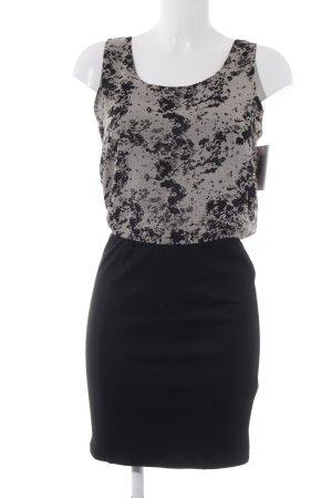 Minimum Trägerkleid schwarz-creme Farbtupfermuster Elegant