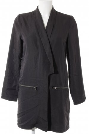 Minimum Übergangsmantel schwarz-silberfarben Casual-Look